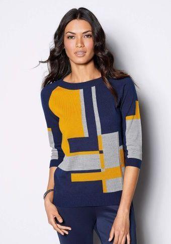 Pulovr s grafickým vzorem #ModinoCZ #fall #autumn #fashion #colours #autumncolours #trendy #stylish #podzimnimoda #moda #styl