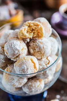 Amaretti Cookies | www.oliviascuisine.com | These chewy almond-flavored cookies are the most perfect accompaniment for a cup of coffee or Italian espresso. You might wanna double the batch, because they usually go very quickly!
