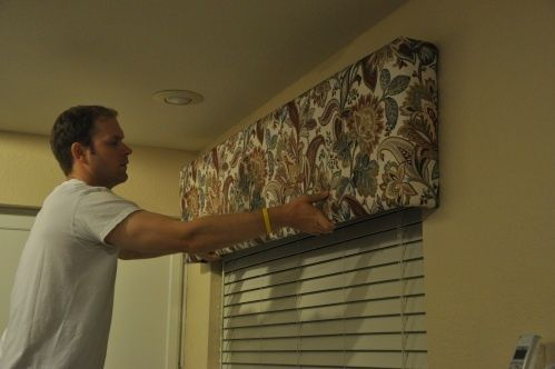 how to make box valences, need these for living room