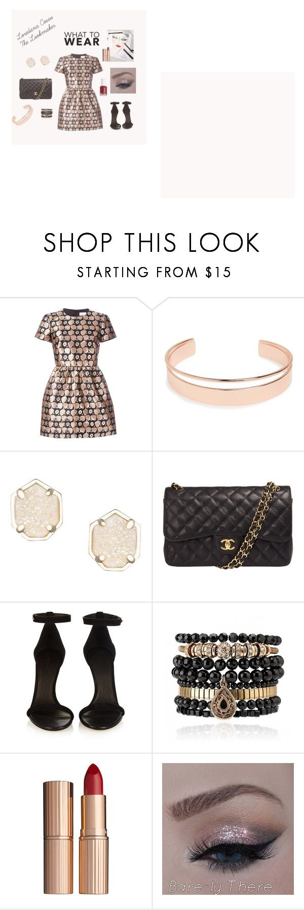 total look by loredanacossu on Polyvore featuring RED Valentino, Isabel Marant, Chanel, Samantha Wills, Kendra Scott, Leith, Charlotte Tilbury, Essie and Creatures Of The Wind