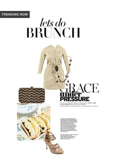 'Lets do brunch' by me on Limeroad featuring Solids Grey Dresses, Black Clutches with Beige Sandals