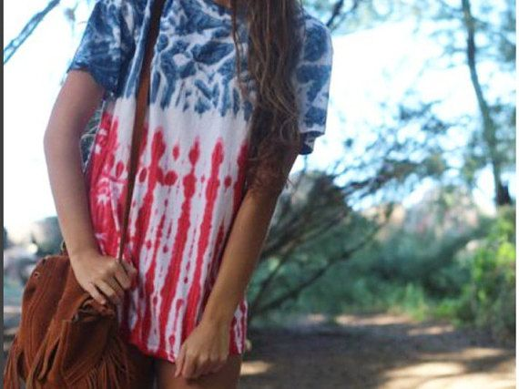 4TH of JULY SHIRT Perfect tie dye fourth of by BeachBabeApparel