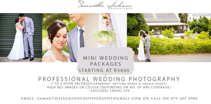 Did you know? I offer 1 and 2hr wedding coverage packages Images by Samantha Jackson Photography wedding photographer www.samanthajacksonphotography.co.za