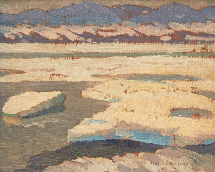 Albert H. Robinson - Lower St. Lawrence 8.5 x 10.5 Oil on board