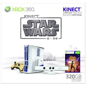 I'm so in love....I have no words. This is what you will give me 2012, not a man, lots of money or the world, but an xbox 360 that looks like R2D2 with 320 GB and C3PO remote controller and Star Wars game.....I could cry *sob*. You are on my wish list until the day we meet. I will feel like Ralphie with his Red Ryder carbine action, two-hundred shot range model air rifle.