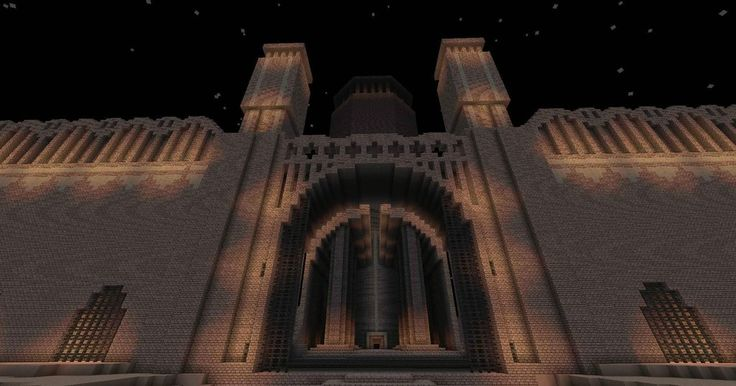 #Castle Walls in #Minecraft
