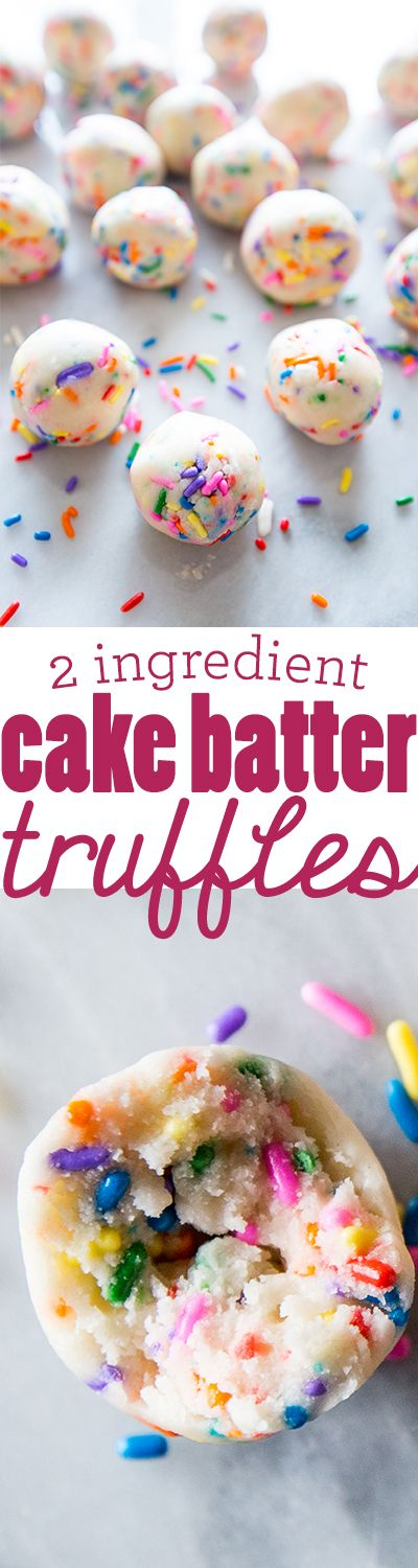2 Ingredient Cake Batter Truffles