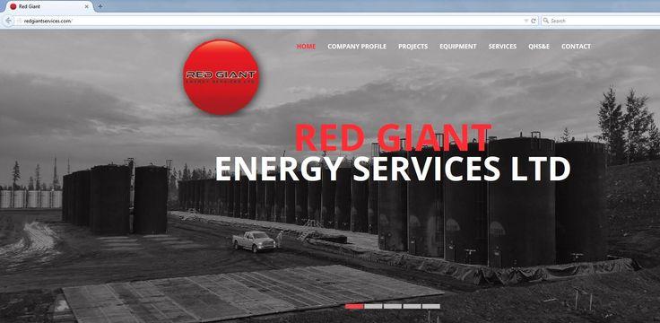 Red Giant Energy Services Ltd website design