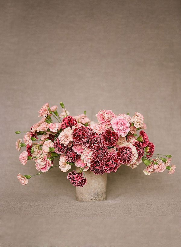 Carnations, Pink Carnation, Red Carnations, Carnation Floral Centerpiece, Loop Flowers, Christina McNeill