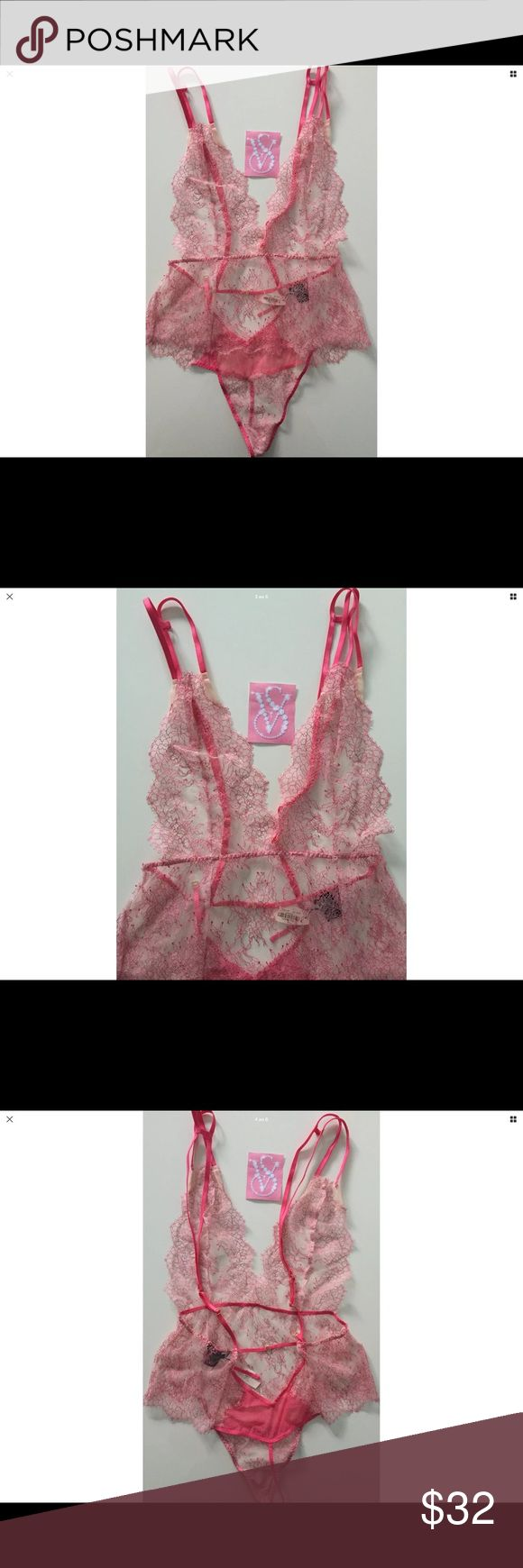 Victoria's Secret Lace Thong Teddy Lingerie M NWT  Size-Medium  No trades!!! No free shipping!!! No holds!!! PRICE IS FIRM Victoria's Secret Intimates & Sleepwear Chemises & Slips