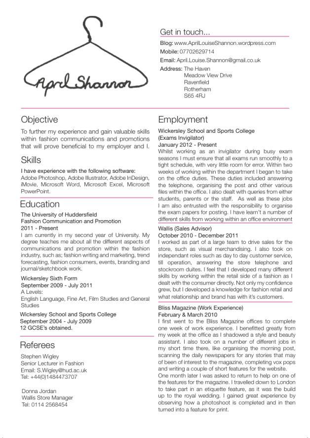 junior fashion buyer resume skills - Google Search