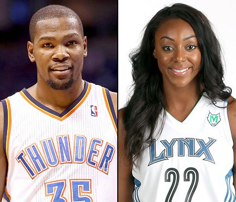 Kevin Durant is engaged to WNBA player Monica Wright!