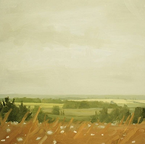 Sara MacCulloch, Fields, August  2012, Oil on canvas
