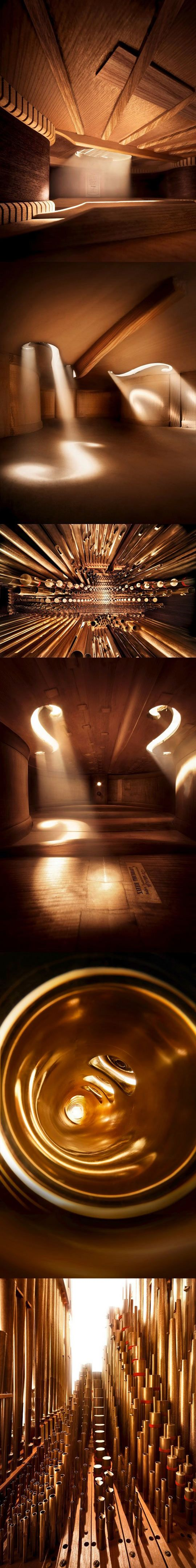 Inside beautiful musical instruments...Oh I though they were skylights. Beautiful idea nonetheless!