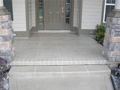 Tile, Walkway, Entrance Concrete Entryways - love to do this on our front entryway