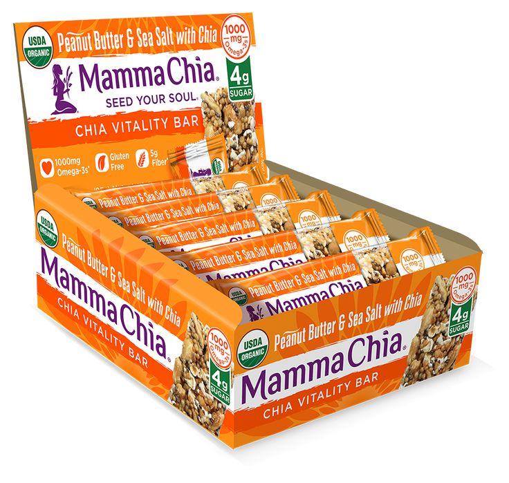 Chia Vitality Bar - 4g Sugar - Peanut Butter & Sea Salt