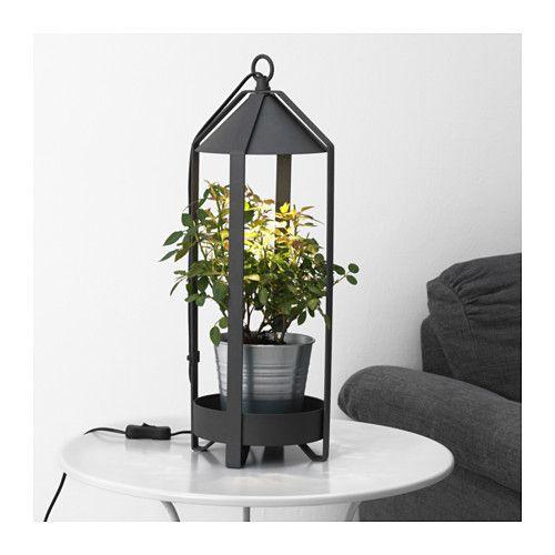 IKEA KRYDDA plant holder w LED cultivation bulb