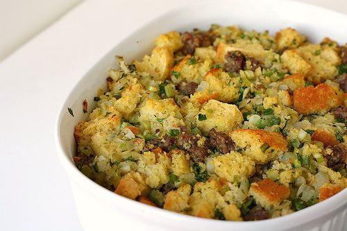 Cornbread & Sausage Stuffing | Food | Pinterest | Stuffing, Sausages ...