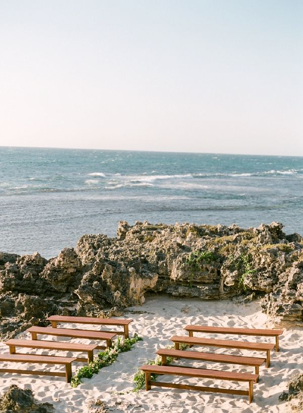 Beach Wedding Set Up In Australia | Organic Coastal Wedding Inspiration by Connie Whitlock Photography