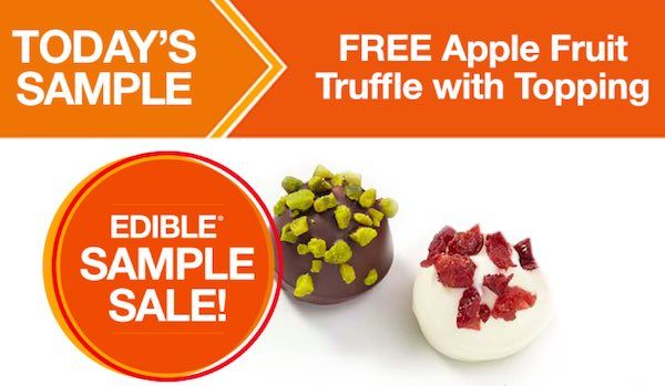 Give that special someone in your life a little something extra today! Get a FREE Apple Fruit Truffle with Topping! Just head over the the nearest Edible Arrangements location and mention this offer! It's that easy!
