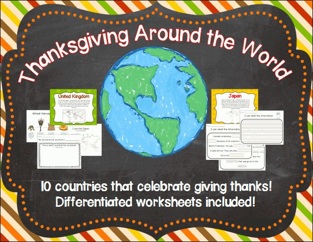 Other countries have Thanksgiving too! Included are 10 ...