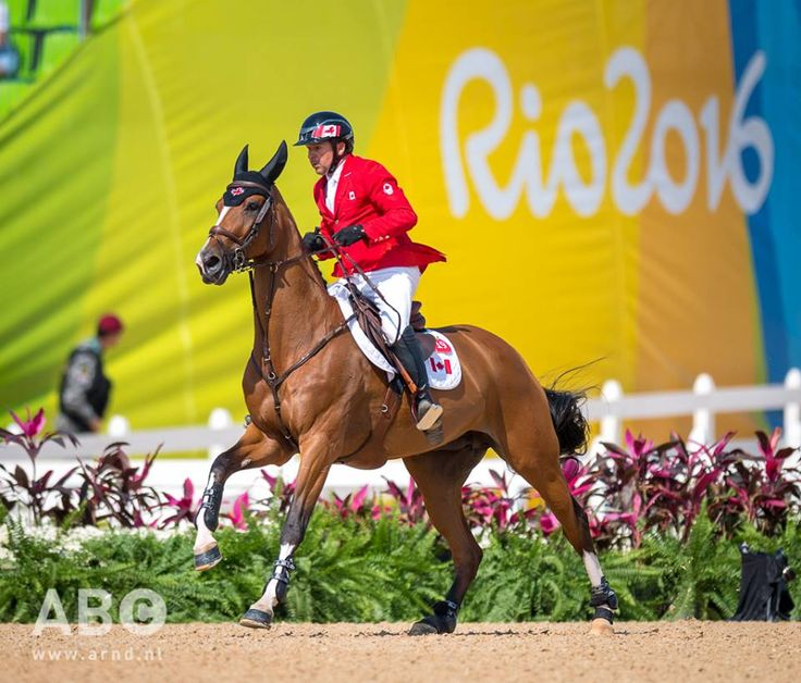 Eric Lamaze and Fine Lady V at the 2016 Rio Games.