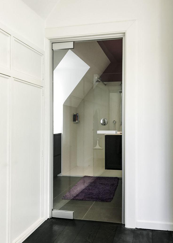 Glazen deur met aluminium omlijsting in een bestaand houten kozijn - ANYWAYdoors