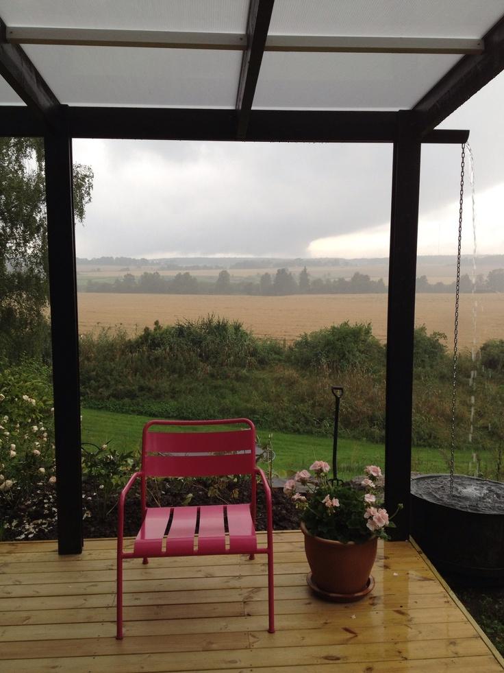 Det regnar