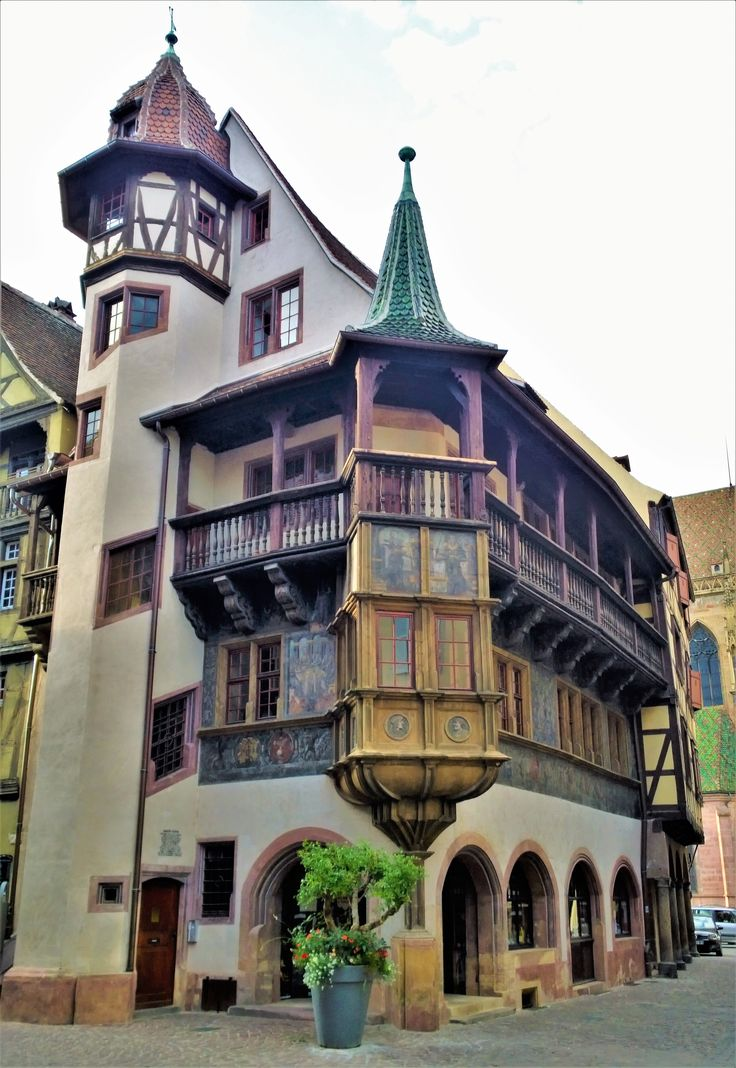 Embracing the old architecture of Colmar, Alsace, France.