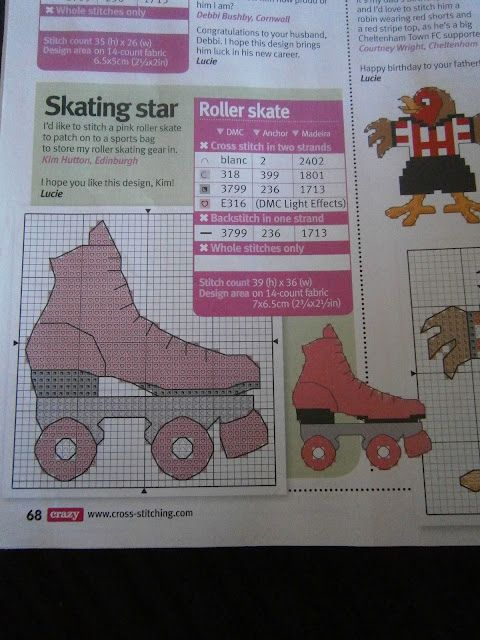 Skates and Stitches: 233 - Roller skate pattern