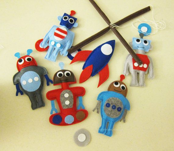 Baby Mobile baby robots mobile robot baby boy by lovelyfriend