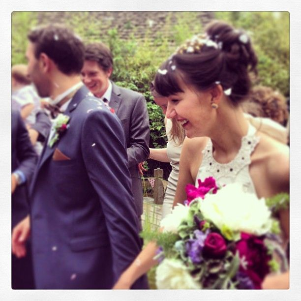 Elizabeth Rose of Blanche in the Brambles on her own wedding day.