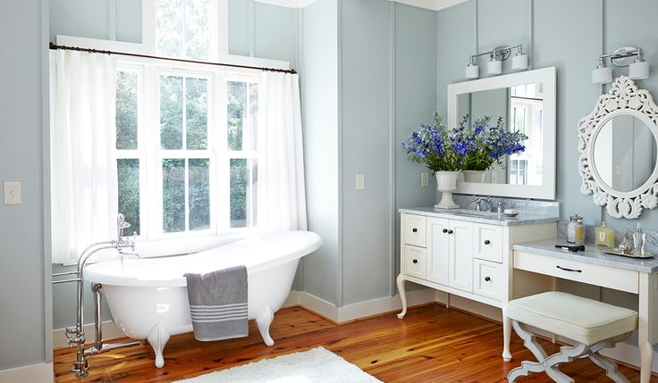 """Farmhouse doesn't have to be """"chipped paint"""" everything."""