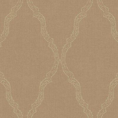 "York Wallcoverings City Lights 27' x 27"" Geometric Wallpaper Color: Bronze / Gold"
