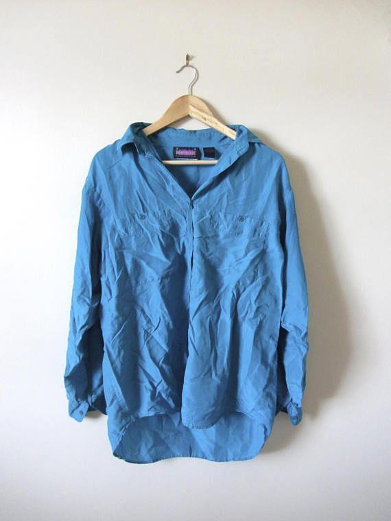 80s Vintage Silk Turquoise Blouse