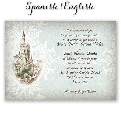 Castillo Guapo Spanish/english Wedding Invitation I Print In Spanish On The  Front And English