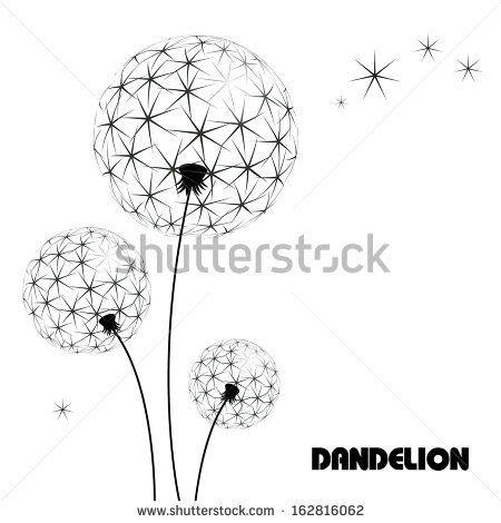Abstract flower vector dandelion by Bozhko, via Shutterstock