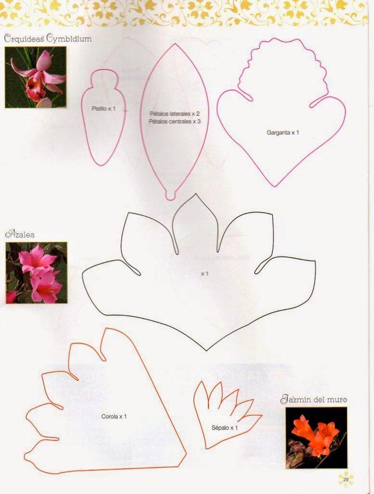 Las 25 mejores ideas sobre flores en foami en pinterest y - Como hacer figuras de fieltro paso a paso ...
