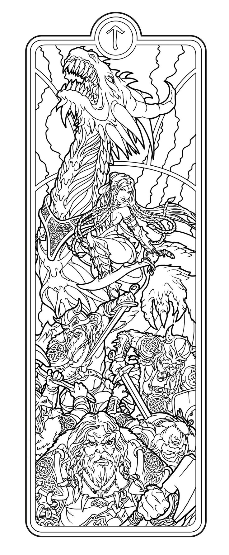helheim battlemaid lines by deviantashtarethdeviantartcom on deviantart adult coloring pagescolouring