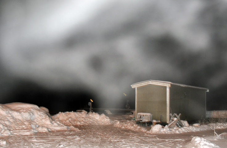 Temperature inside the sauna +80 ̊C, outside -15 ̊C.   ©MarjaValtonen