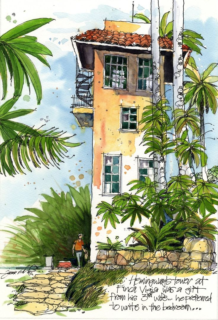 "James Richards Sketchbook: ""Hemingway's Cuba"" exhibition opens in the writer's Cuban home"