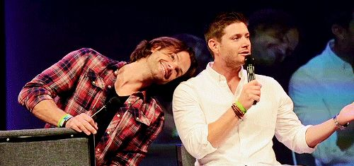 """I wouldn't change a thing."" ~ Jensen <3 and Jared being ADORABLE AWWW I love them <3 <3 #J2 #minncon2015 #MinnCon"