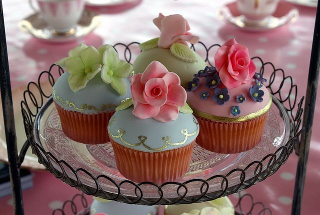 English Tea Party Cupcakes  Created for Beautiful World Tents' Open Day at Knepp Castle Estate