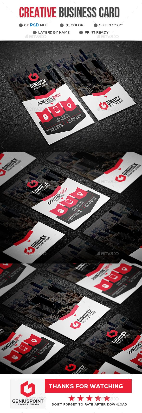 Creative Business Card - Creative Business Cards #graphicdesign #businesscards