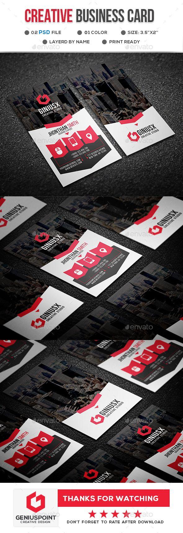Creative Business Card - Creative Business Cards #graphicdesign #businesscards