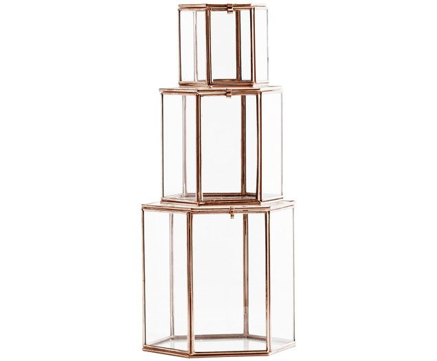 Glasboxen-Set CUBE, 3-tlg., Verschiedene Größen - by Madam Stoltz