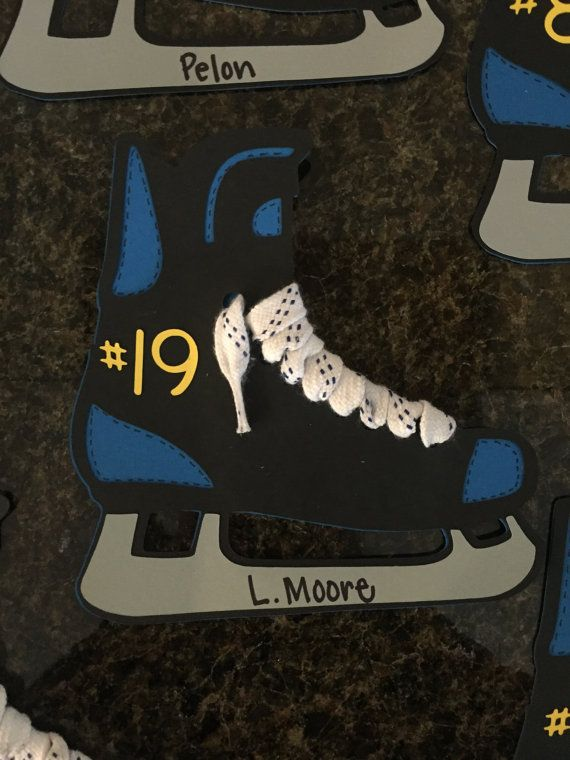 Cute Customizable Hockey Locker Tags by CraftinWithJojo on Etsy