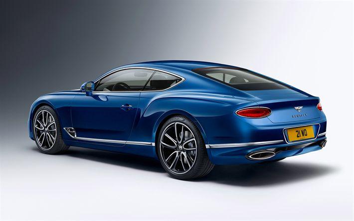 Download imagens Bentley Continental GT, 2018, Visão traseira, supercar, carros de luxo, coupé, Bentley