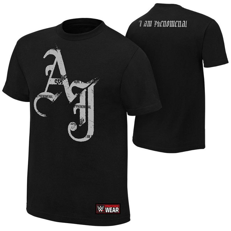 AJ Styles I AM PHENOMENAL Black WWE Authentic T-Shirt OFFICIAL LICENSED NEW - http://bestsellerlist.co.uk/aj-styles-i-am-phenomenal-black-wwe-authentic-t-shirt-official-licensed-new/