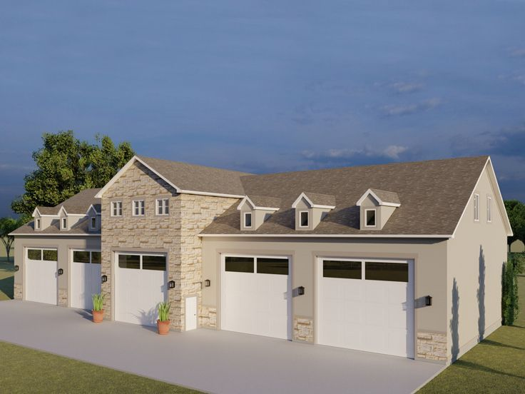 065g 0020 Over Sized Garage Plan Carriage House Plans Large Garage Plans Garage Design Plans